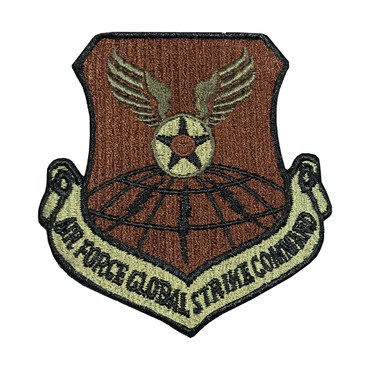 Multicam OCP Global Strike Command Patch With Black Border With Hook Backing
