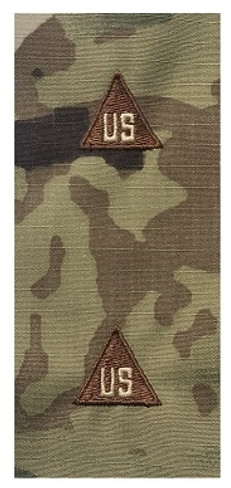 Multicam OCP US Civilian Sew On Rank With Spice Brown Triangle