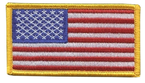 US Flag Patch - Full Color With Hook Backing (Left Side)