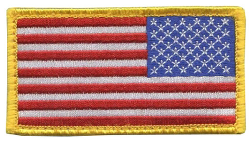 US Flag Patch - Full Color With Hook Backing (Right Side)