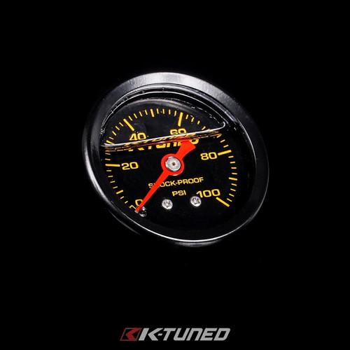K-Tuned Fuel Pressure Gauge, Liquid Filled (0-100 psi)