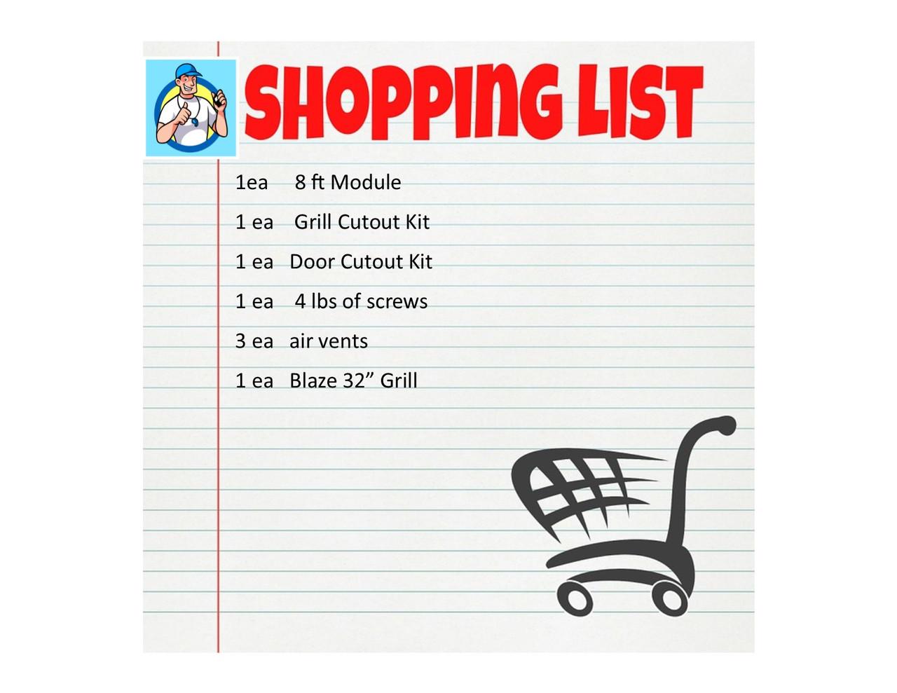 BBQ COACH Shopping List