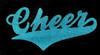 Cheer in turquoise glitter vinyl
