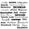 Available fonts for a name to be added to the cup