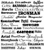 Available fonts for your name and date