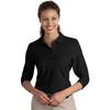 Lady's 3/4 Sleeve Silky Soft Polo CWCJC562
