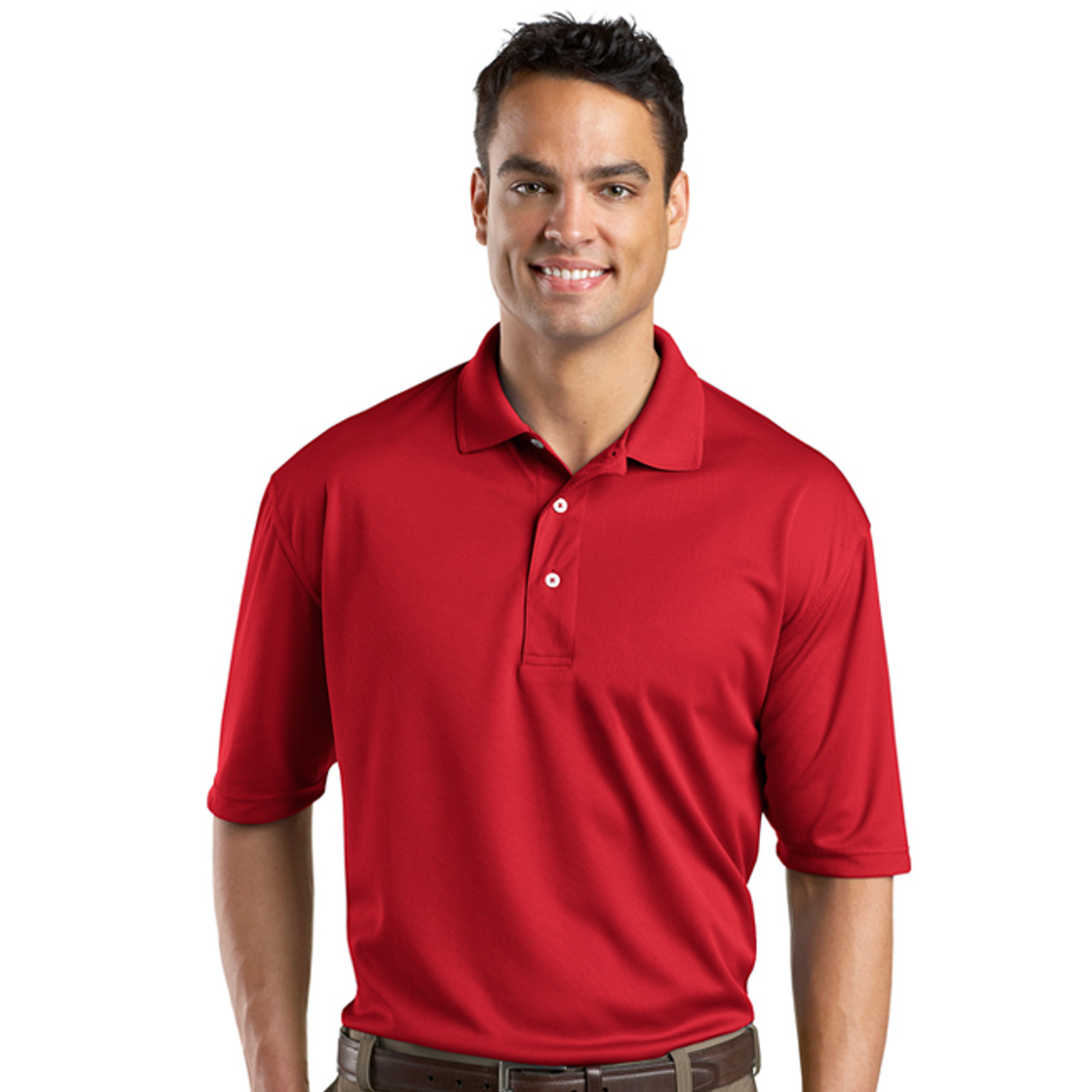 8877074a Performance fabric sport shirt with embroidered DCB logo
