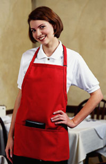 3 pocket bib apron