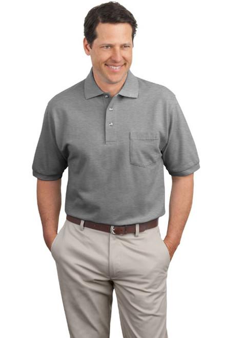 Cotton Pique Knit Polo  with Pocket