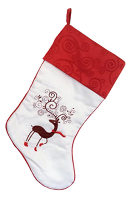Holiday Reindeer Stocking