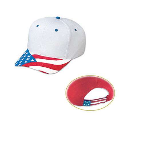 Pro style cap with USA flag visor