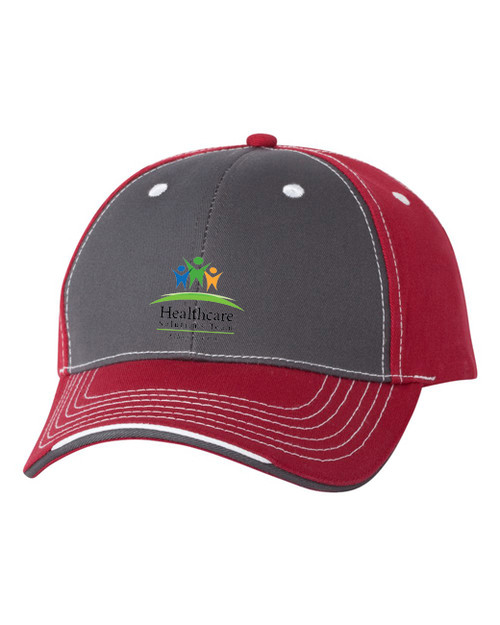 Structured Tri-color Twill Cap  HS9500