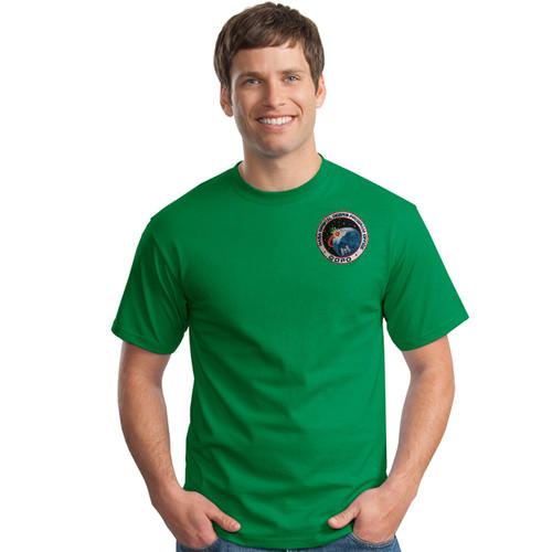 Shown in Irish green