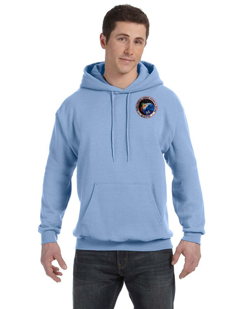 Shown in light blue