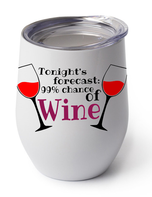 99% Forecast of Wine design on white cup