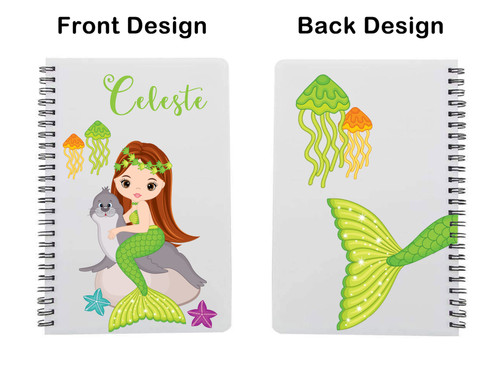 Green mermaid with Red hair