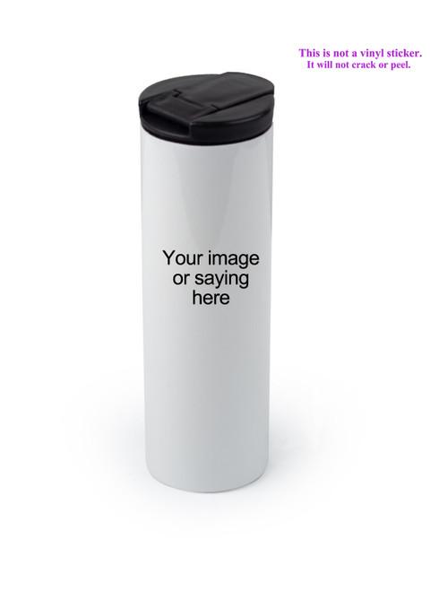 Tumbler with lid closed