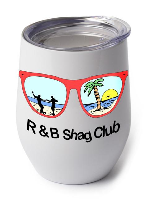 Shown with the R&B Shag Club logo