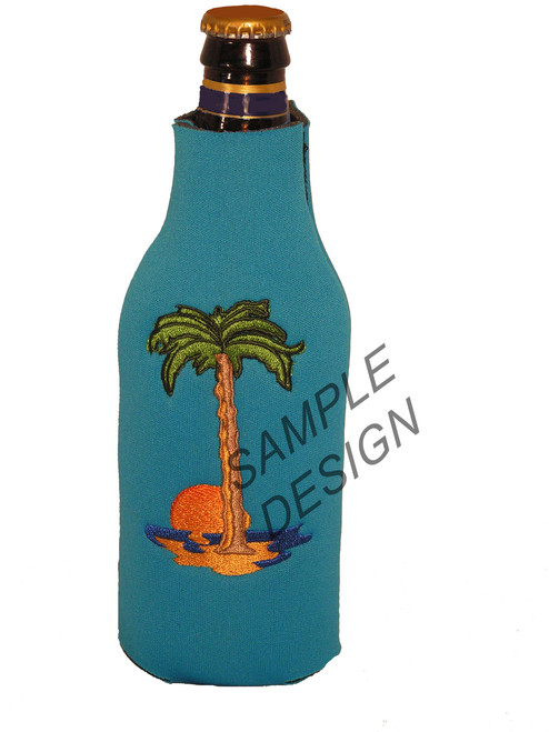 Neoprene zippered bottle koozie