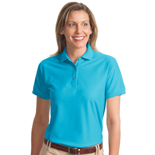 Ladies silk touch polo shirt