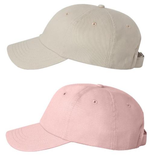 Low Profile cap in pink or khaki