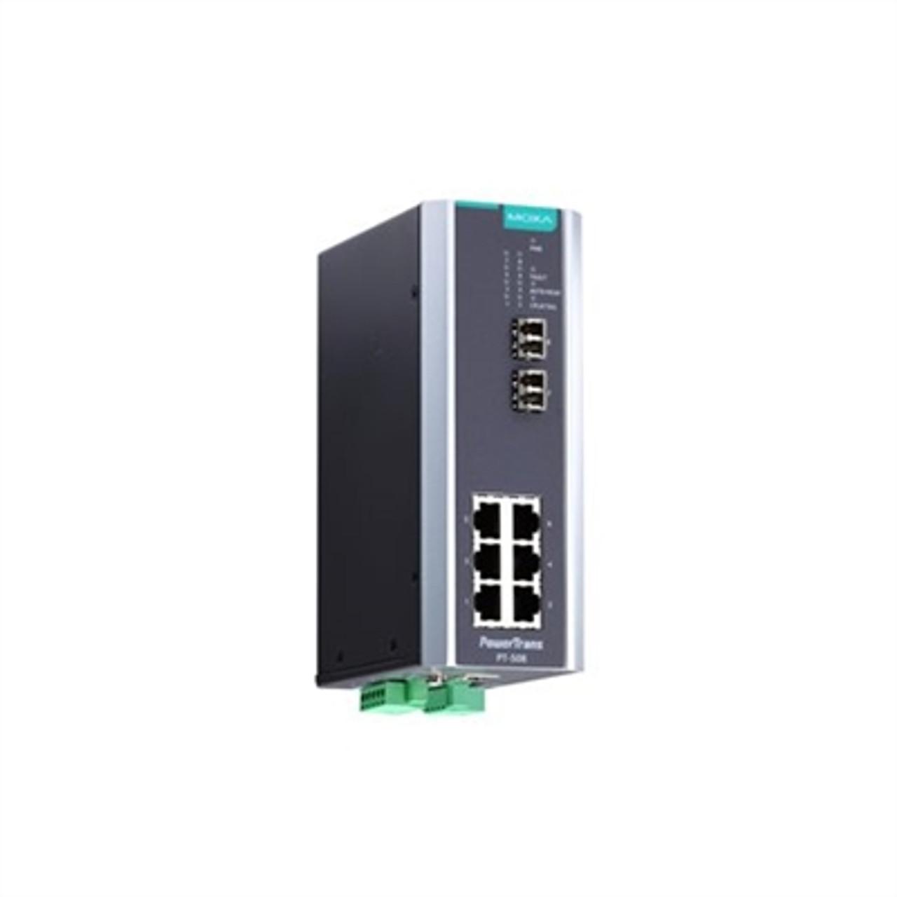 Moxa PT-508-SS-SC-HV managed DIN-rail Ethernet switch