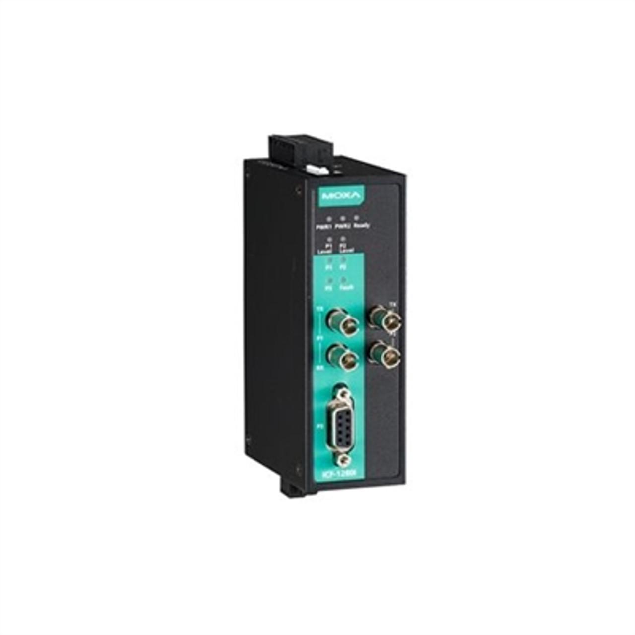 Moxa ICF-1280I-S-ST-T Industrial Profibus To Fiber Optic Converter