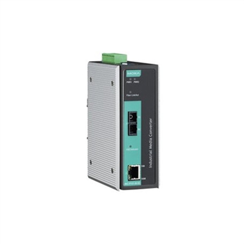 Moxa IMC-P101-S-SC Industrial Poe Media Converter