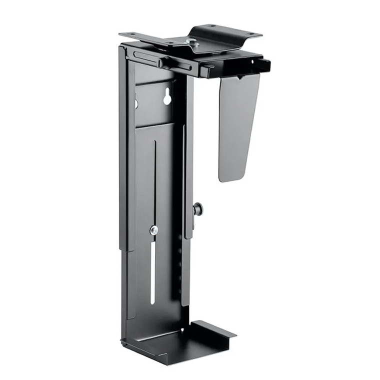 Computer Case CPU Tower Holder, Adjustable Under Desk Mount (Rotating)