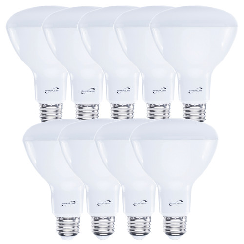 SaticPulse LED 12W spotlight light bulb. 2700K warm white light, CRI>80, quick start and flicker free. Bulk packaging in quantity 9.