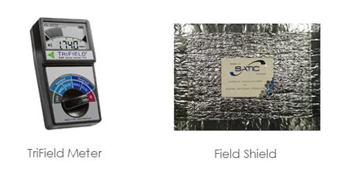 Trifield Metter and SaticShield Field Shield