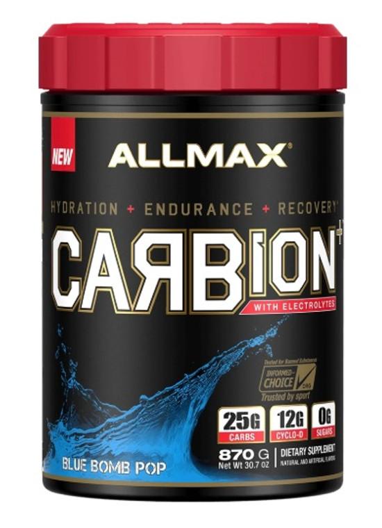 Allmax Carbion + Electrolytes Blue Bomb Pop 30 Servings.