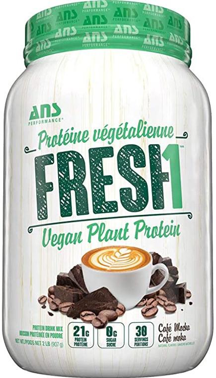 ANS Fresh1 Vegan Plant Protein 907g 2lbs Cafe Mocha