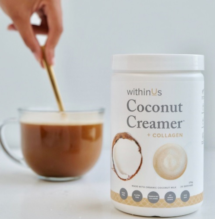 WithinUs Coconut Creamer + TrueMarine Collagen 275g.