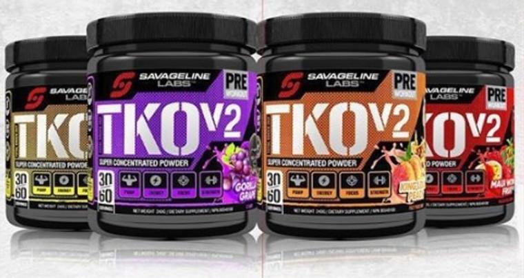 Savage Line Labs TKO V2 30 Servings Intense Pre-workout formula