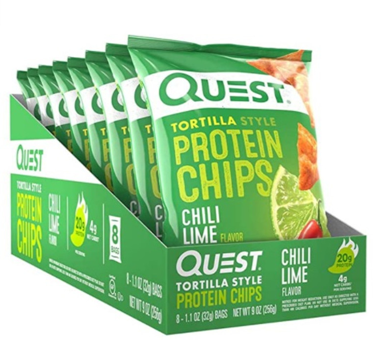 Quest – Protein Chips (Box of 8) - Spicy Chili Lime