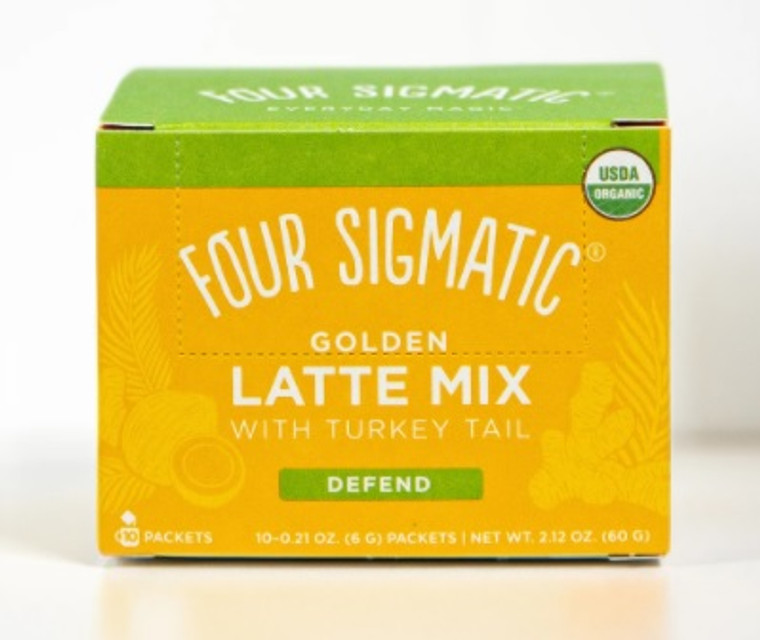 Four Sigmatic Defend Golden Latte Mix with Turkey Tail (Box of 10 Packets).