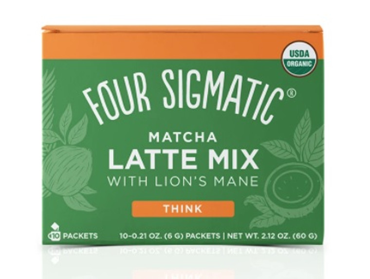 Four Sigmatic Matcha Latte Mix with Lion's Mane (Box of 10 Packets).