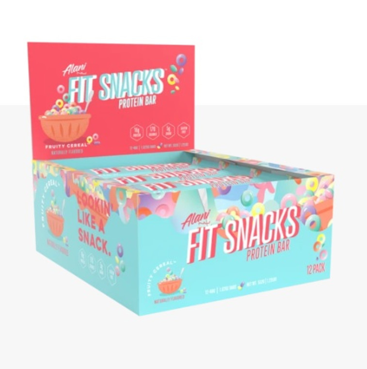 Alaninu Fit Snacks Protein Bar (Box of 12) - Fruity Cereal