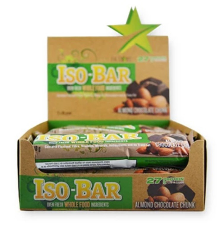 Fit Stars - Iso-Bar (Box of 12) Almond Chocolate Chunk
