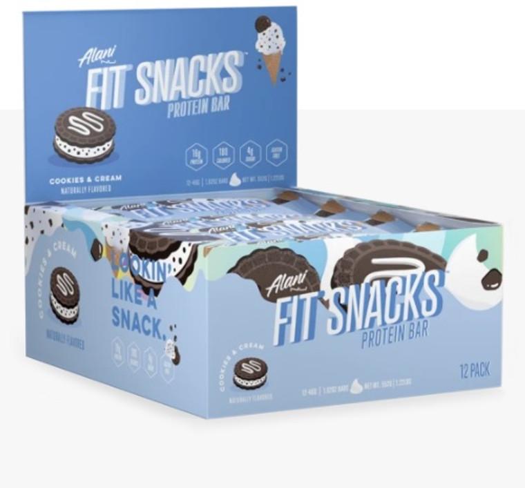 Alaninu Fit Snacks Protein Bar (Box of 12) - Cookies & Cream