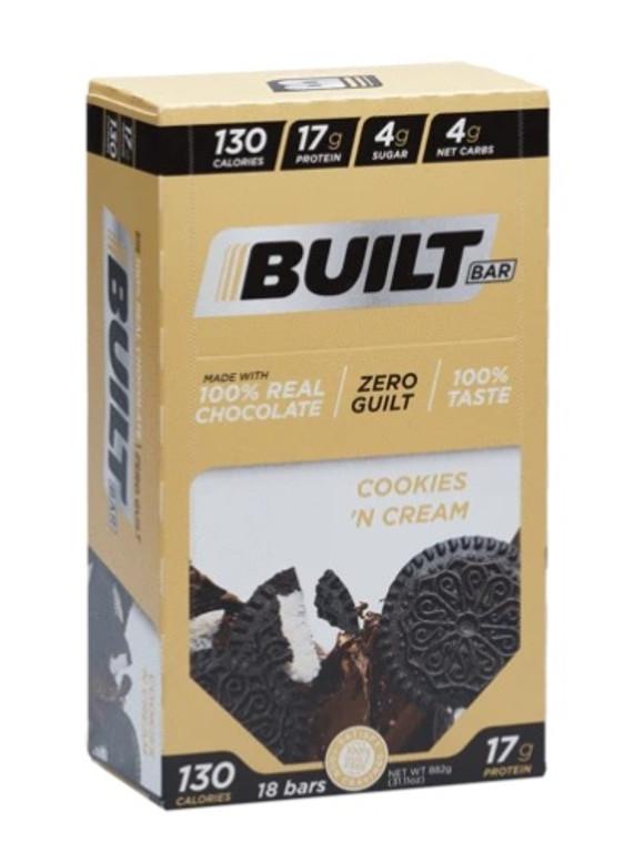 Built Bar (Box of 18) Cookies & Cream