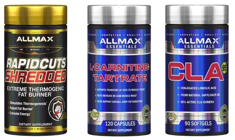 Allmax Fat Burning Stack (Rapid Cuts + CLA + L- Carnitine)
