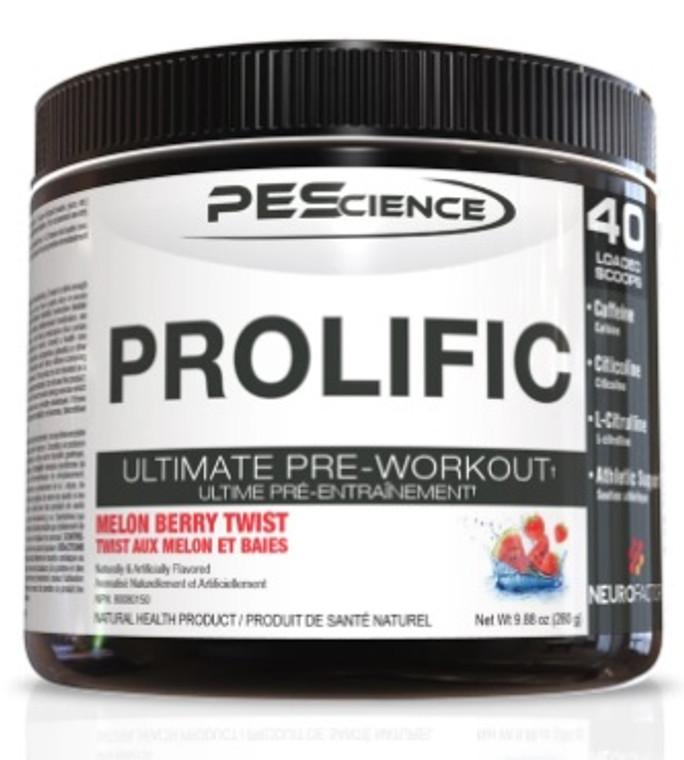PEScience Prolific Ultimate Pre Workout 40 servings Melon Berry Twist