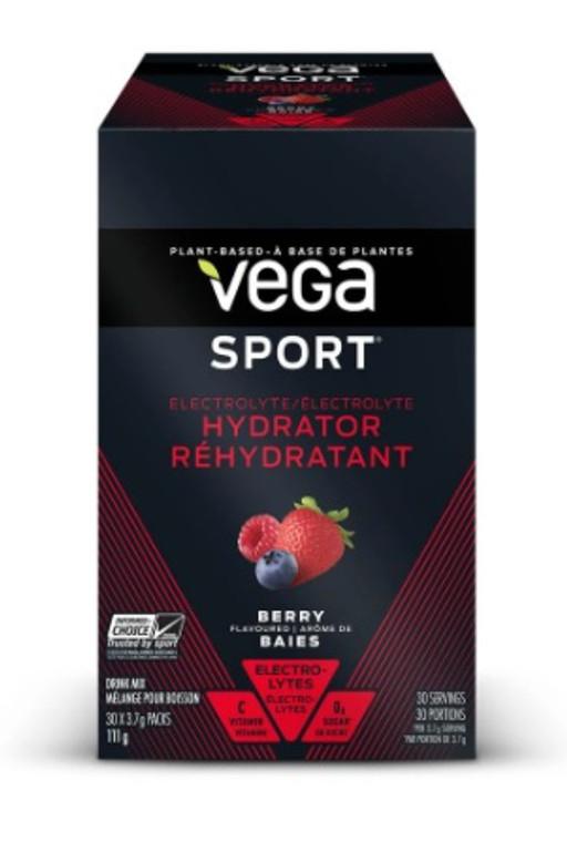 Vega Sport Electrolyte Hydrator 4.2g Berry (Box of 30 Stick Packs)