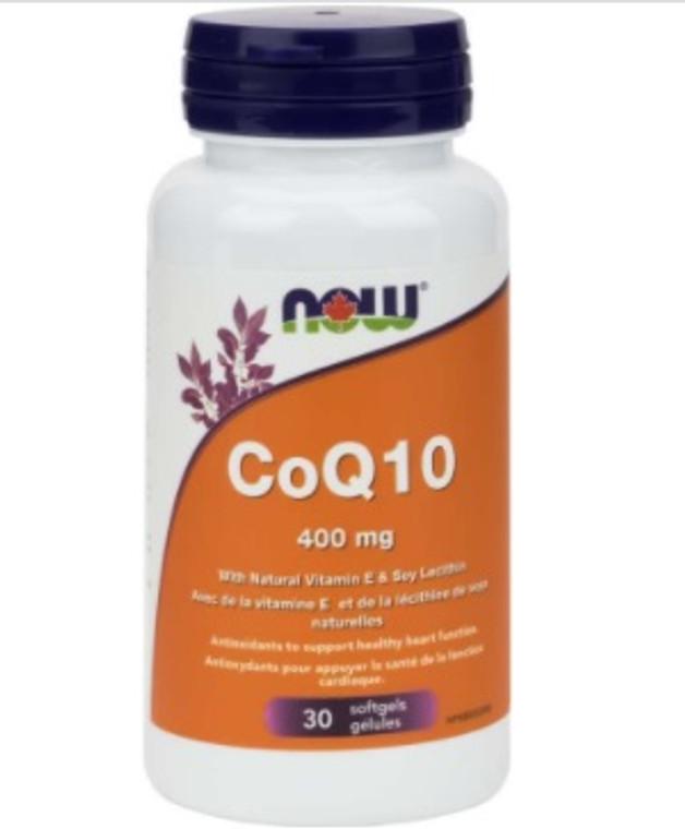 NOW CoQ10 400mg 30 Softgels
