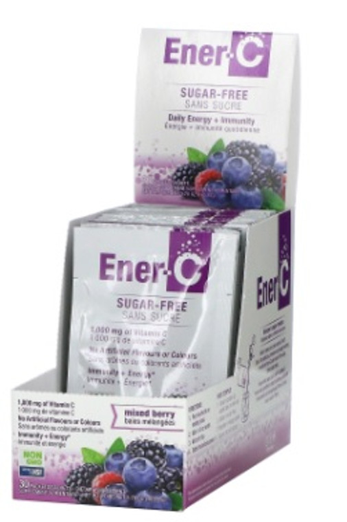 Ener-C Sugar-Free Multivitamin Packets (Box of 30 Packets) - Mixed Berry