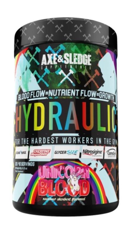 Axe & Sledge Hydraulic NON-STIM PRE-PUMP 40 servings Unicorn Blood Flavor