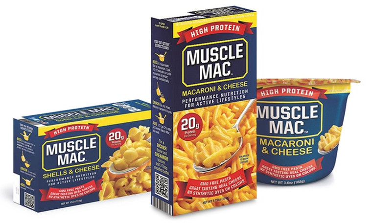High Protein Muscle Mac Cup Box and Shells & Cheese Pea Protein