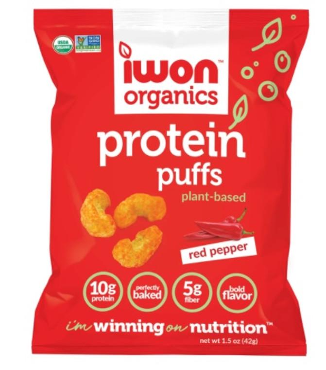 iWon Organics Protein Puffs Red Pepper 42g.